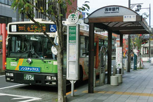 Photo:Various kinds of bus stops
