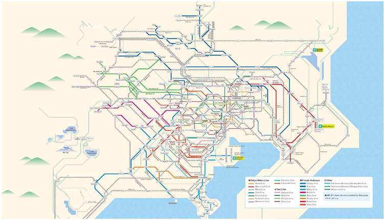Haneda Airport Tokyo Metro Subway Map.A New Plan Ticket For Foreign Visitors The Greater Tokyo Pass Is