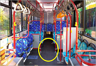 Image: Fully flat floor buses are completely flat on the inside