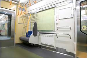 (image 1)Utilized universal design concept (railcars that are easy on users)