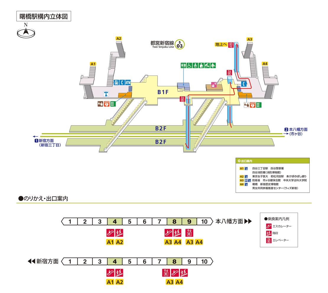 構内図   竹橋駅/T08   東京メトロ