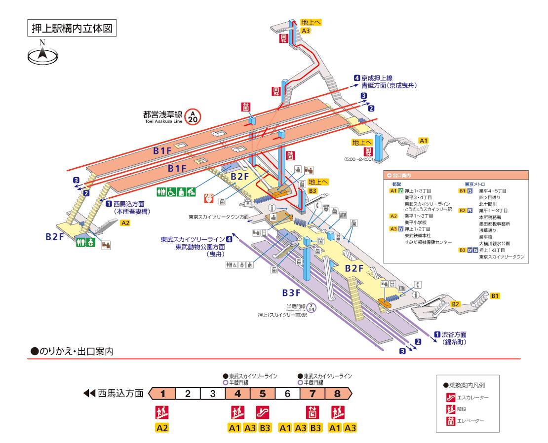 「押上駅 出口 地図」の画像検索結果