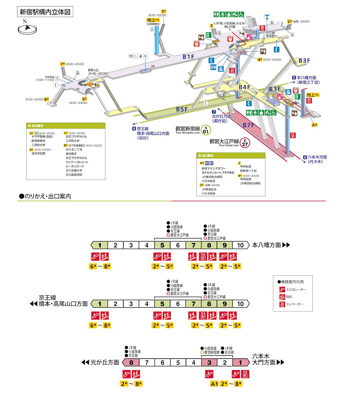 都営地下鉄構内図